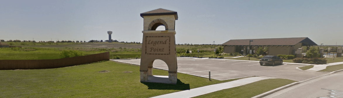 Legend Point Subdivision Entrance